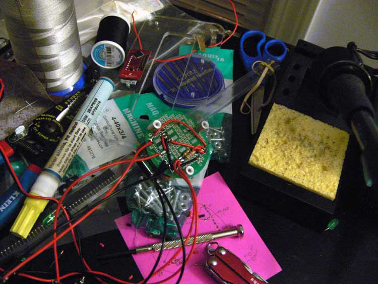 Assembly of the prototype electronics.