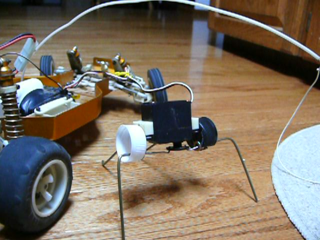 The walker finished being driven by the car servo controller