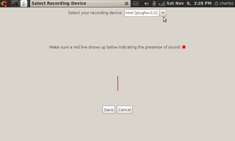 Java recording device selection on Ubuntu Linux.