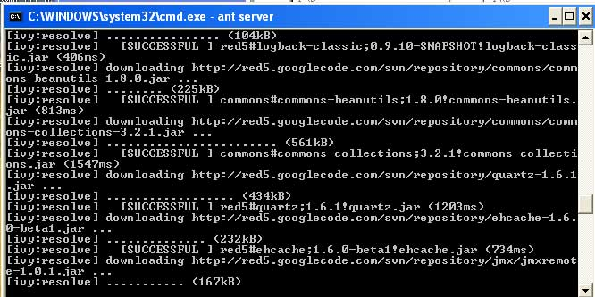 The red5 build script using ivy to download dependencies from googlecode