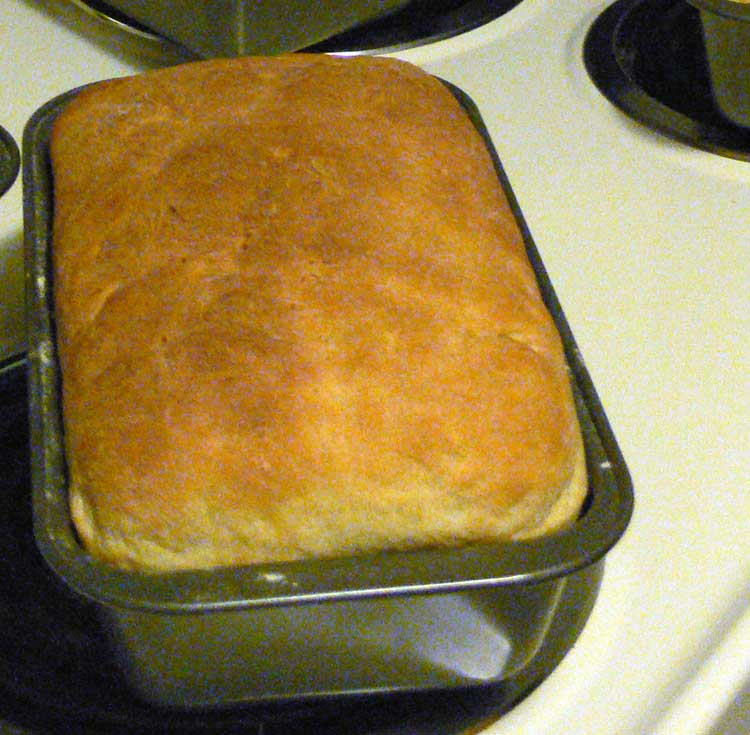 Fresh baked home made bread.